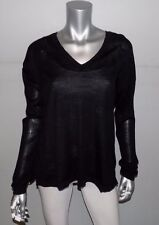 LANE BRYANT NEW Merino Collection Black V-Neck Thin Sweater Plus sz 18/20W