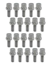 20 Piece 14x1.5 Chrome Lug Bolts 26mm Shank Length Ball Seat