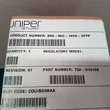 Juniper SRX-MIC-10XG-SFPP New in box