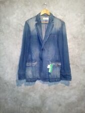 Benetton vintage Blue Denim Jean Jacket Sz 40L nwt