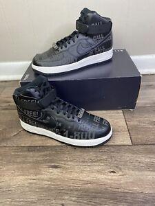 Nike Air Force 1 High 07 PRM 3M Toll Free 1-800 Black Men Size 9.5 CU1414-001