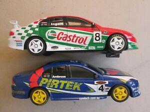 Scalextric slot car x2 1/32 Ford Falcon Pirtek 4 Ambrose Holden Ingall Castrol 8