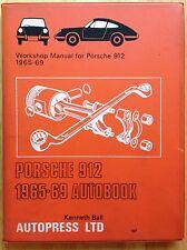 1965 1966 1967 1968 1969 PORSCHE 912 AUTOBOOK WORKSHOP REPAIR MANUAL, VINTAGE