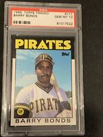 1986 Topps Traded Barry Bonds ROOKIE RC #11T PSA 10 GEM MINT