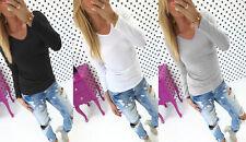 Hüftlang Damenblusen,-Tops & -Shirts im Blusen-Stil mit V-Ausschnitt und Viskose