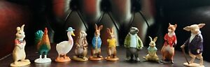 Peter Rabbit Cake Toppers - 10 Figurines + a book + a Playmat - New and Sealed
