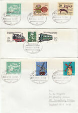 (07683) CLEARANCE Germany Covers x3  Trains 1983