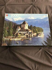 MB Oberhafen Castle SWITZERLAND Magnum Series 2000 Piece Jigsaw Puzzle 4280-14