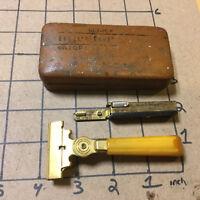 Vintage Original -- Schick Injector Razor in case, BAKELITE HANDLE w blades 1941
