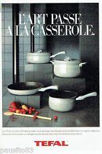 PUBLICITE ADVERTISING 116  1986   les casseroles Tefal  filet blanc