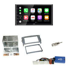 JVC DAB+ Bluetooth USB Radio+ 2-DIN Blende grau+Lenkrad Adapter für Toyota Auris