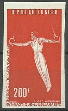 Niger Sport Jeux World Game Anneaux Rings Ringeturnen Non Dentele Imperf ** 1970