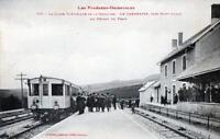 CPA 66 LA LIGNE ELECTRIQUE DE LA CERDAGNE LA CABANASSE LE DEPART DU TRAIN (GROS