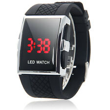 Sport Soft Rubber LED Wristwatch Digital Unique Design Mens Boy Fashion Watch
