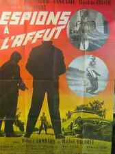 AFFICHE CINEMA 119 x 160 1966 ESPIONS A L'AFFUT Max Pecas Jean Vinci Anna Gael