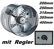1800m³/h Rohrventilator + REGLER Kanalventilator Axialventilator Rohr-Ventilator