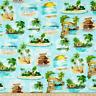 BTY QT MARGARITAVILLE ISLAND Vignettes 100% Cotton Quilt Craft Fabric by YARD