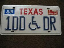 1992 Texas Handicap License Plate