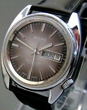 VTG 1970 SICURA BREITLING AUTOMATIC SS MENS WATCH  DAY DATE RONDA 1239-21