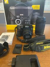 Nikon D7500 DSLR Camera with 18-55mm and 70-300mm VR Lenses Kit? and extras.