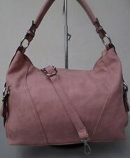 Beuteltasche Handtasche Damen Tasche HoboBag Schultertasche Beutel rosa roseNEU