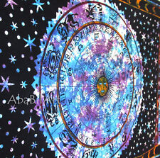 Twin Zodiac Astrology Mandala Art Tapestry Wall Hanging Hippie Tie Dye Wall Thro