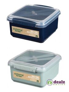 Sistema Renew Lunch Plus Microwave Plastic Container With Cutlery 1.2L BPA