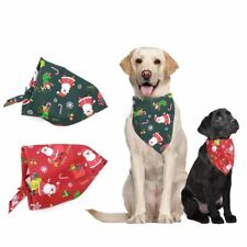 Pet Puppy Christmas Style Dog Bandana Scarf Triangle Bib UK FAST AND FREE POST