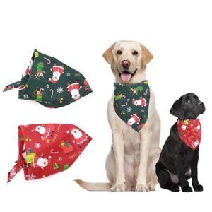 Pet Puppy Christmas Style Dog Bandana Scarf Triangle Bib UK FAST AND FREE POST