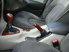 Se adapta a Rover 75 Cuero Gear Freno De Mano polainas Costura negra