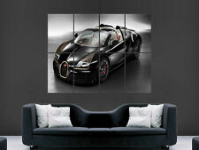 BUGATTI VEYRON GRAND SPORT BLACK CAR LARGE PICTURE POSTER GIANT HUGE
