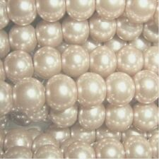 100 pieces 8mm Glass Pearl Beads - Pale Gold - A1016