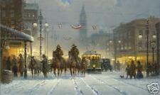 G Harvey 'Snowy Tracks' Limited Edition Canvas