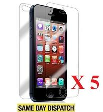 5 Front and 5 Back Clear Screen Protectors Cover Film for iPhone 5 5G 5s & Cloth