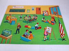 Vintage Saalfield Kindergarten Class preschool lift-out puzzle #7254