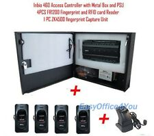 4 Door INBIO 460 Fingerprint+Card Access Control System Kit+Power Supply Box ZK