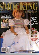 AUSTRALIAN SMOCKING & EMBROIDERY MAGAZINE #28~AUTUMN 1994~SMOCKING DESIGNS
