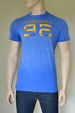 NUOVO ABERCROMBIE & FITCH PANTHER GOLA 92 Blu distrutto TEE T-shirt L RRP £ 62