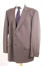 M&S COLLEZIONE MEN'S BROWN COTTON BLEND SPORTS JACKET 46L DRY-CLEANED