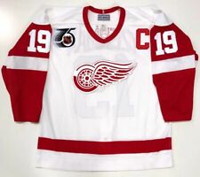 STEVE YZERMAN 1991 DETROIT RED WINGS AUTHENTIC CCM NHL 75th JERSEY SIZE 48 large