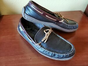 L.L. Bean Mens brown leather Slippers