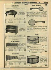 1935 ADVERT Schoenhut Wood Wooden Piano Baby Granbd Upright Jazz Drum Harmonica