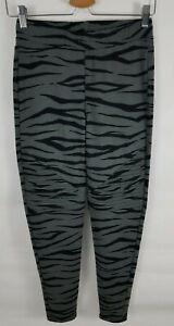 Material Girl Juniors M Animal Print Moto Leggings Pants Dark Gray Tiger