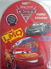 Disney Pixar Cars 3 Pack of 12 Fabric Stickers (Customise your clothes)