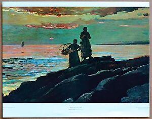 Winslow Homer  Sunset Saco Bay  Vintage Original 1st Ltd Ed 1960 Lithograph