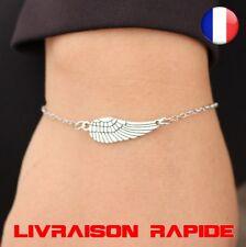 Bracelet Ailes ange plume punk gothique mode bijoux vintage femme chaine cadeau