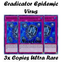 3x Eradicator Epidemic Virus Ultra Rare Mint LCKC-EN048 YuGiOh Kaiba Collection