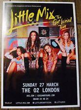 LITTLE MIX GET WEIRD UK ARENA TOUR 2016 LONDON A4 POSTER
