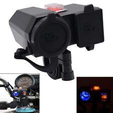 12V LED ATV Motorrad USB Ladegerät Zigarettenanzünder Adapter Spannung Voltmeter