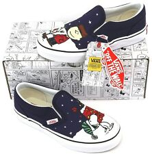 4a281d1f5283b8 Van s Peanuts Charlie Tree Classic Slip-On Childrens Youths Kids Pumps  Trainers